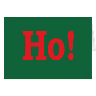 Ho! Holiday Card with sly wink
