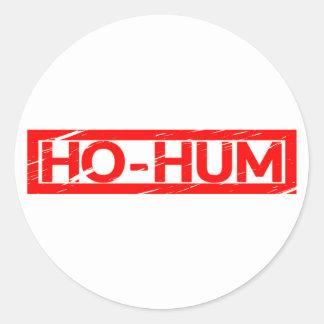 Ho-hum Stamp Classic Round Sticker