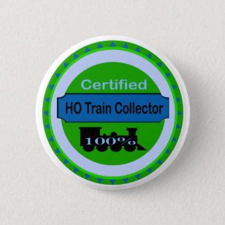 HO Train Collector Pinback/Button 2 Inch Round Button