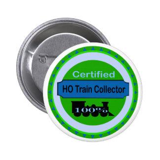 HO Train Collector Pinback/Button 2 Inch Round Button
