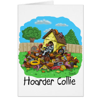 Hoarder Collie Card