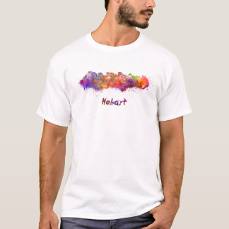 Hobart skyline in watercolor T-Shirt