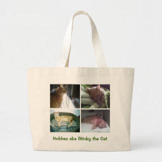 Hobbes aka Stinky the Cat Large Tote Bag