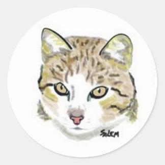 Hobbes Classic Round Sticker