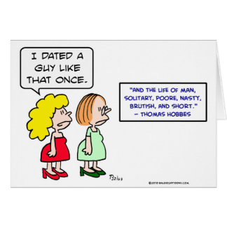 hobbes nasty brutish short dating cards