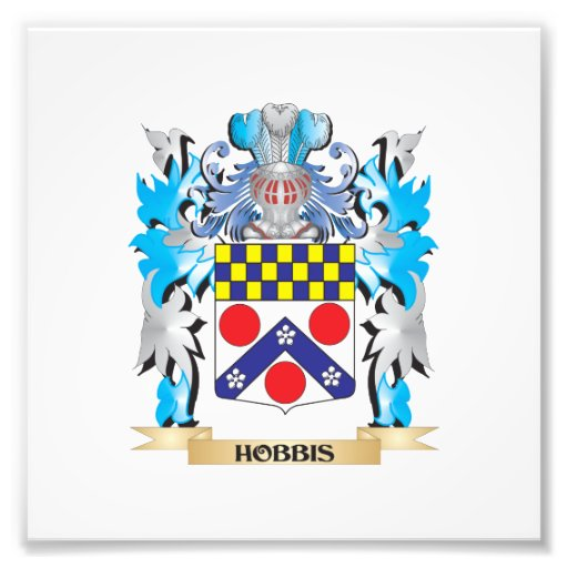 Hobbis Coat of Arms - Family Crest Photo Print