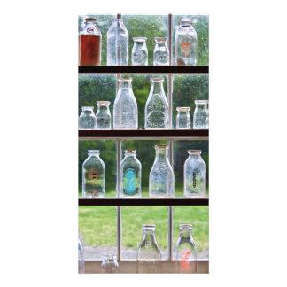 Hobby - Collector - Milk Bottles Customized Photo Card