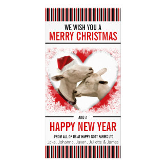 Hobby or Goat Farm Christmas Photo Card Template