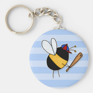 hobby - rather bee hitting homeruns no txt basic round button keychain