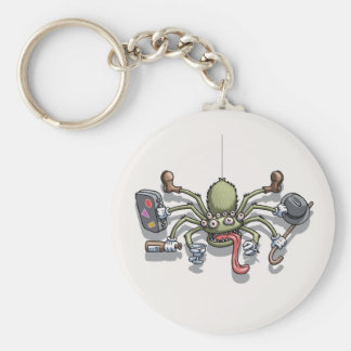 Hobo Von Spiderton Basic Round Button Keychain