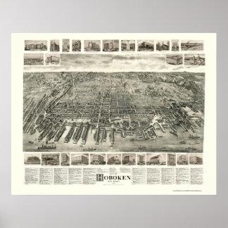 Hoboken, NJ Panoramic Map - 1904 Poster