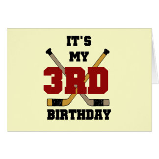 Hockey 3rd Birthday Tshirts and Gifts Greeting Card