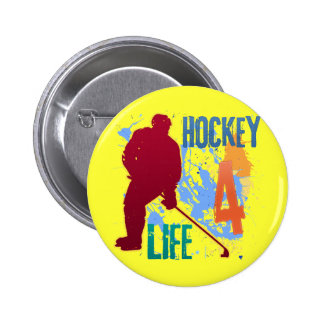 HOCKEY 4 LIFE 2 INCH ROUND BUTTON
