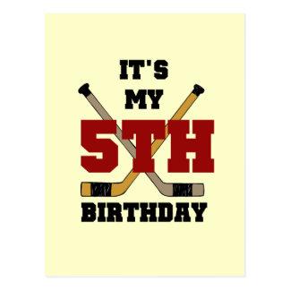 Hockey 5th Birthday Tshirts and Gifts Post Card