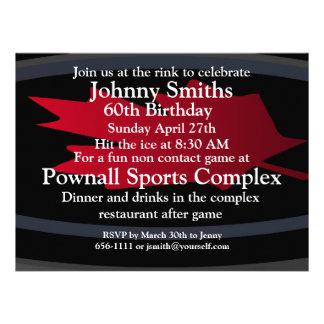 Hockey 60th birthday invitation