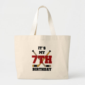 Hockey 7th Birthday Canvas Bag