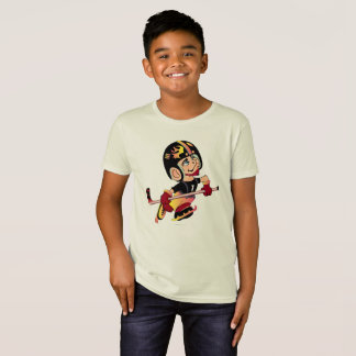 HOCKEY ALIEN CARTOON Kids' American Apparel Organi T-Shirt