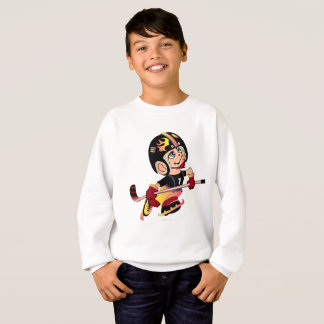 HOCKEY ALIEN CARTOON Kids' Hanes ComfortBlend® Swe Sweatshirt