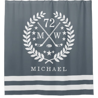Hockey ALL-STAR Custom Initials | Name Slate Grey