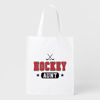Hockey Aunt Reusable Grocery Bag