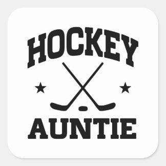 Hockey Auntie Square Sticker
