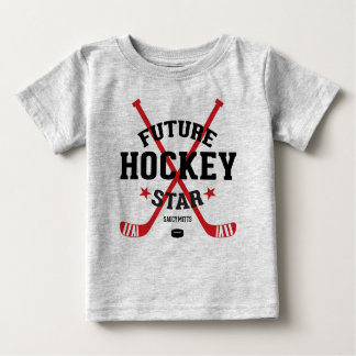 Hockey Baby Future Hockey Star Red Sticks Baby T-Shirt