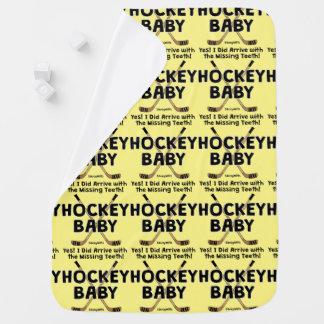 Hockey Baby Missing Teeth Baby Blankets