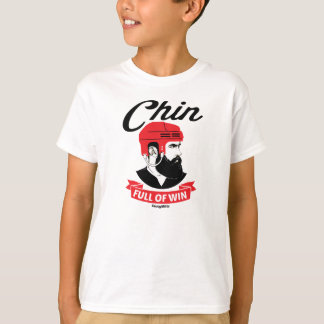Hockey Beard Chin Full of Win Youth T-Shirt