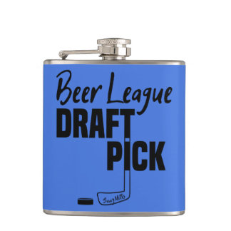 Hockey Beer League Draft Pick Hip Flask