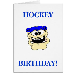 Hockey Birthday Greeting Card
