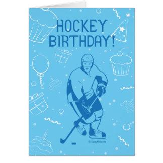 Hockey Birthday! Greeting Card - Male