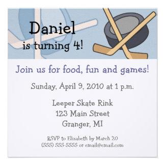Hockey Birthday Party Invitations 5 25x5 25 in
