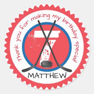Hockey Birthday Sticker