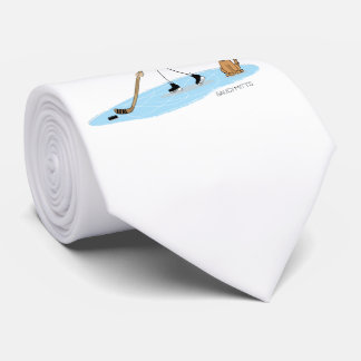 Hockey Boy Cartoon Tie