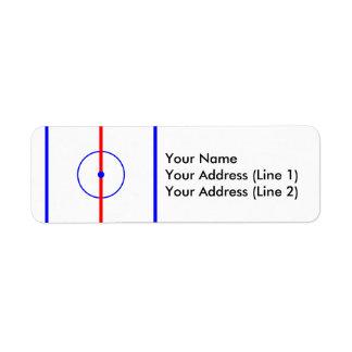 Hockey Centre Ice & Blue Lines