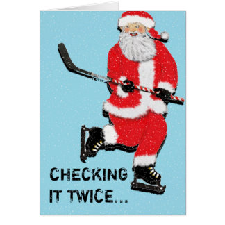 Hockey Christmas greeting cards