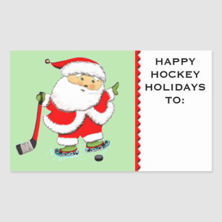 hockey Christmas Sticker