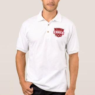 Hockey Coach Retro Style Shield Polo Shirt