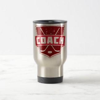 Hockey Coach Retro Style Shield Stainless Steel Travel Mug