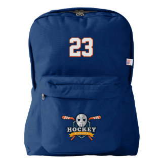 Hockey. Custom Player Name & Number. Your Official Backpack