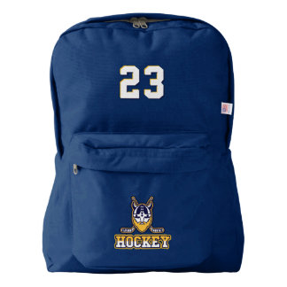 Hockey. Custom Player Number. Your Official Backpack