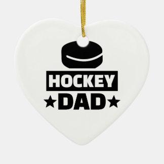 Hockey dad ceramic ornament