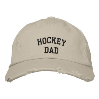 Hockey Dad Embroidered Baseball Cap