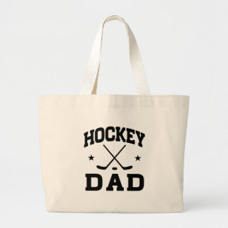 Hockey Dad Large Tote Bag