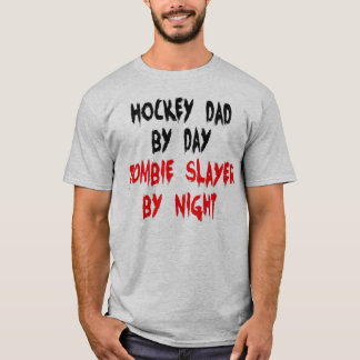 Hockey Dad Zombie Joke T-Shirt