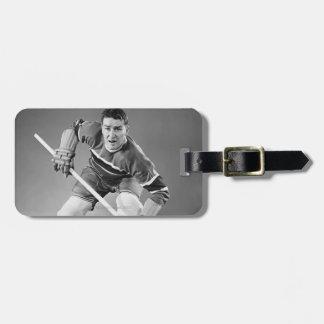 Hockey Defenseman Luggage Tag