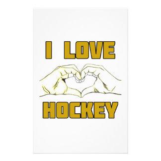 hockey design stationery design
