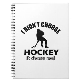 hockey designs notebook