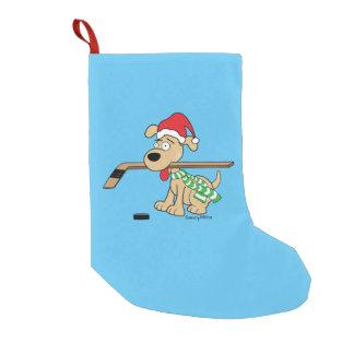 Hockey Dog Christmas Stocking