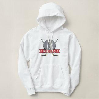 Hockey Embroidered Hoodie